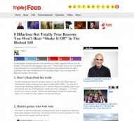 Media wrap- Triple J attacks Buzzfeed's #Tay4Hottest100, commercial radio figures strong in 2014, Vevo gets into radio