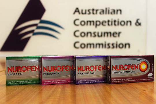 Nurofen faces ACCC action over misleading packaging