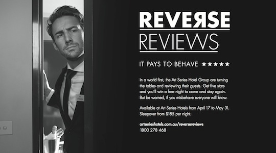 Art Series Hotel Group turns the tables on guests with 'Reverse Reviews'