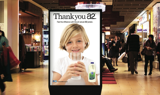 A2 Milk outdoor ad