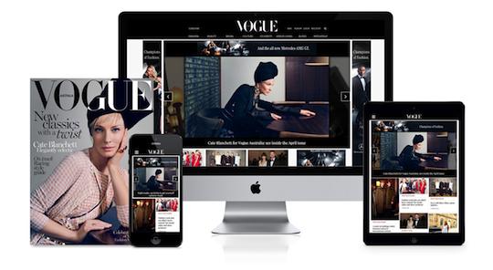 Vogue new website screenshots all devices