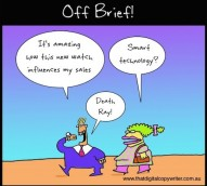 The smartwatch is the new 'killer' salesforce tool – cartoon