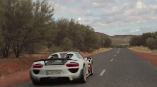 Porsche goes flat out in the Australian outback to show off its hybrid technology