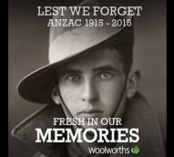 Woolworths slammed for insensitive and illegal Anzac Day campaign