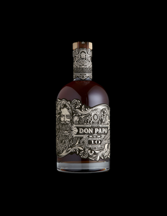 Spirits: Don Papa 10 Year Old Rum (Philippines) by Stranger & Stranger (US) packaging