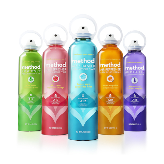 Method Air Refreshers, in-house (US) packaging