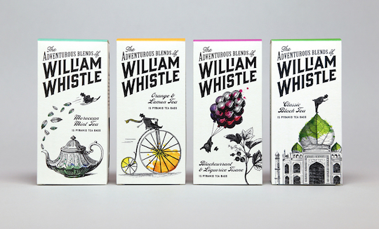 The Adventurous Blends Of William Whistle packaging