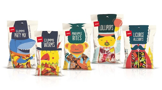 Pams Confectionery by Brother Design (New Zealand) private label packaging