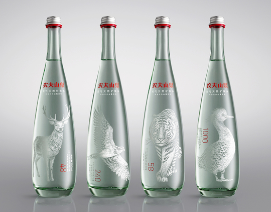 Nongfu Spring Premium Mineral Water (China) by Horse (UK) packaging