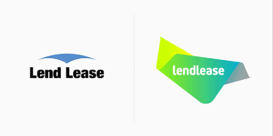 "Lend Lease rebrands to become Lendlease with a new ""fluid and flexible"" logo"