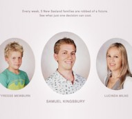 NZ road safety charity Brake constructs current-day portraits of crash victims to highlight long-term impacts