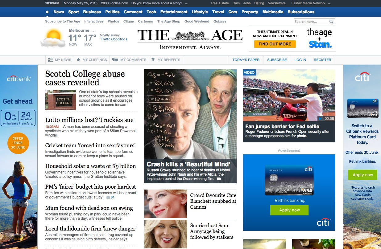 The Age, 25 May 2015