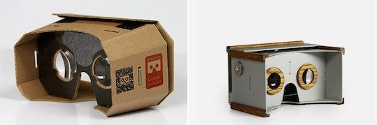Google cardboard goggles
