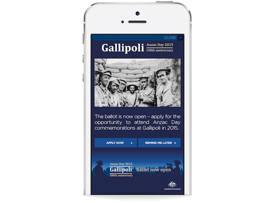 gallipoli on iphone sl