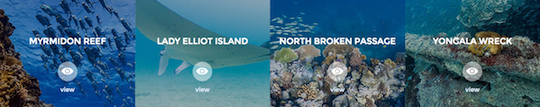 great barrier reef location names and images
