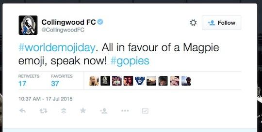 8 Collingwood football club magpies World Emoji Day worldemojiday tweet 540w