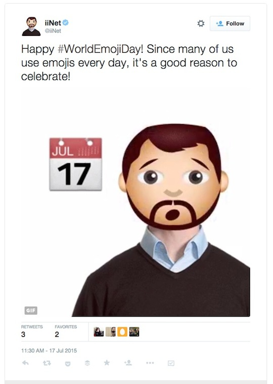 2 iinet World Emoji Day worldemojiday tweet 540w