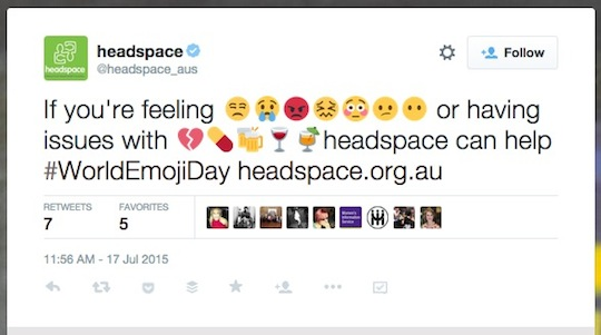 6 headspace World Emoji Day worldemojiday tweet 540w