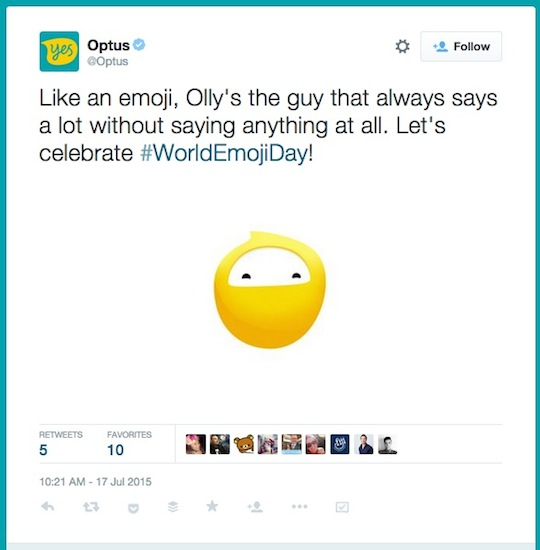 7 Optus World Emoji Day worldemojiday tweet 540w