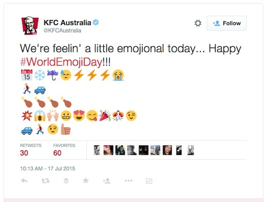 KFC australia World Emoji Day worldemojiday tweet 540w