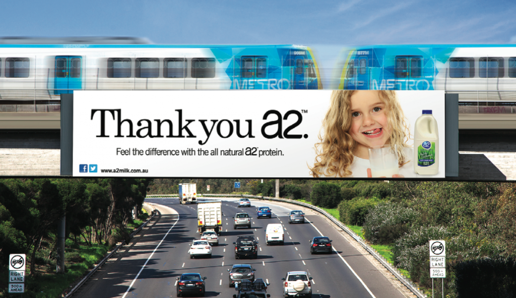 A2 thank you billboard