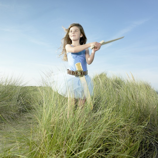 Girl dressed in tutu with sword Credit Gary John Norman Getty Images