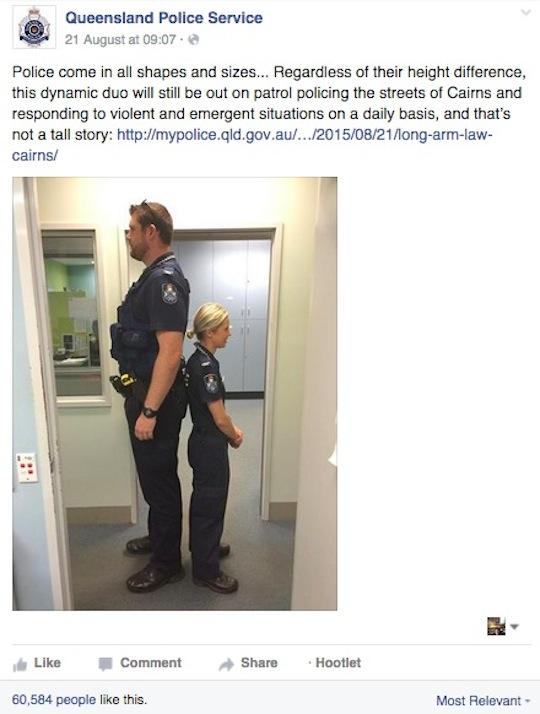 short cop tall cop