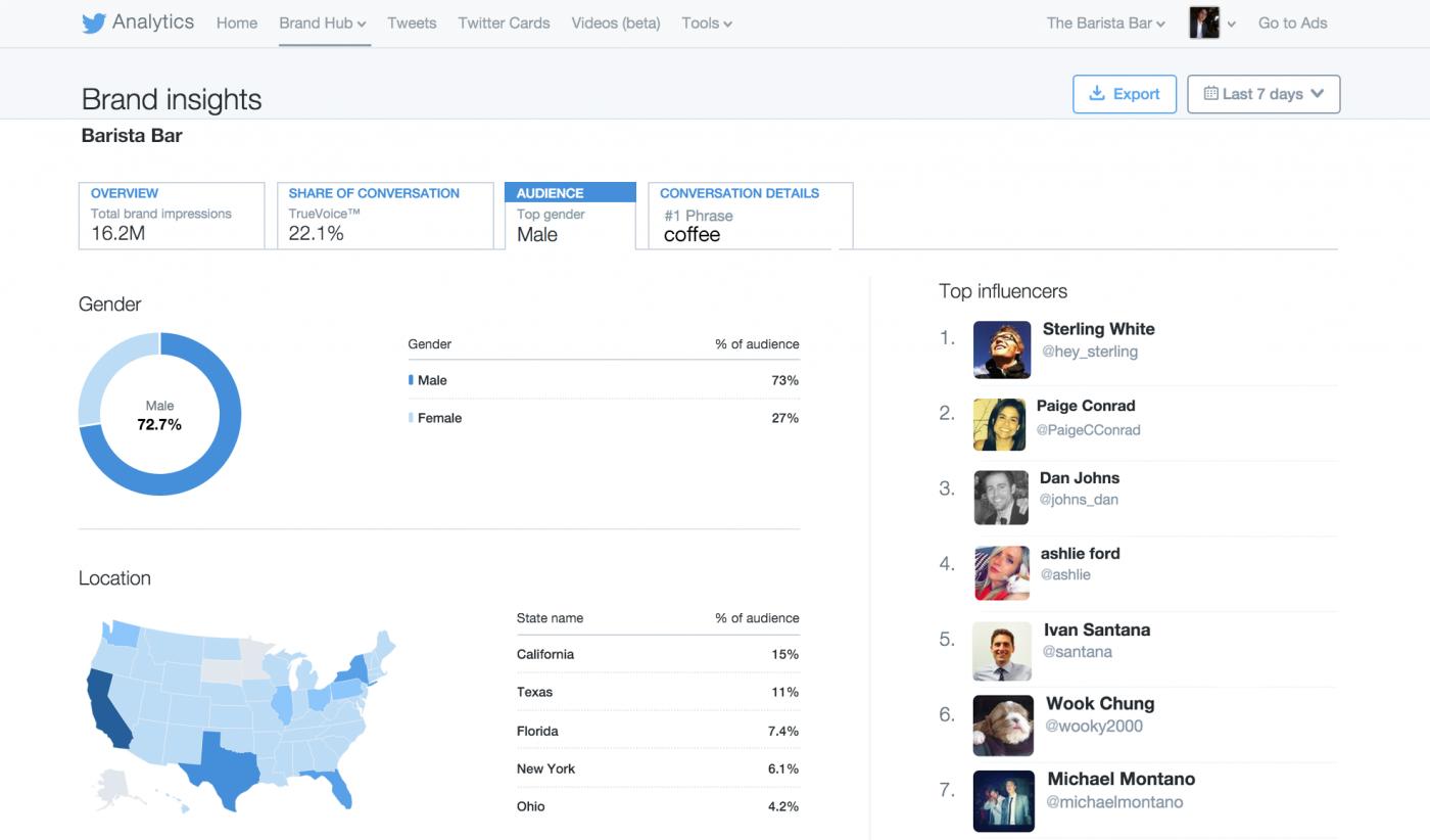 Twitter Brand Hub audience
