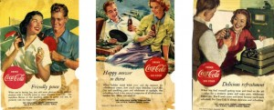 couple having happy moments coke ad