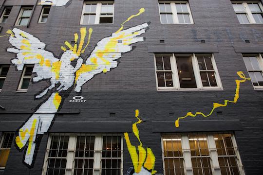 Oakley in Residence Sydney - Anthony Lister mural 540