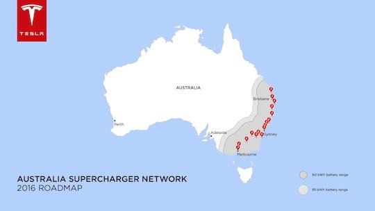 Tesla Australia 2016 roadmap