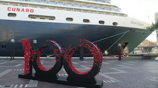 Historic voyage: How Cunard's cruise ship paid tribute to '100 years of ANZAC'
