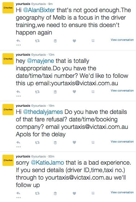 response tweets