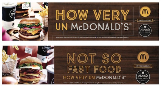 Mcdonalds maccas create your taste advertising
