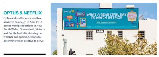 Optus and Netflix digital outdoor out of home media