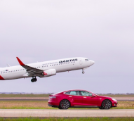 Qantas and Tesla team up for sustainability
