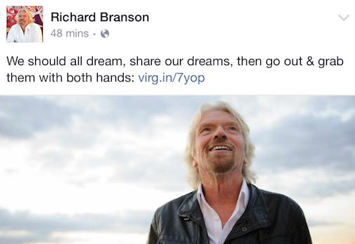 Sir Richard Branson and Buckitdream