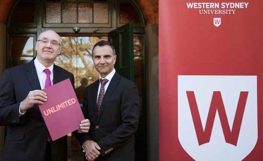 Western Sydney University rebrand chancellor 540w