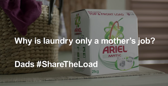 Ariel's #ShareTheLoad campaign cleans up at the APAC Effie Awards