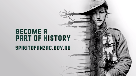 Spirit of Anzac a learning experience for creative director, too