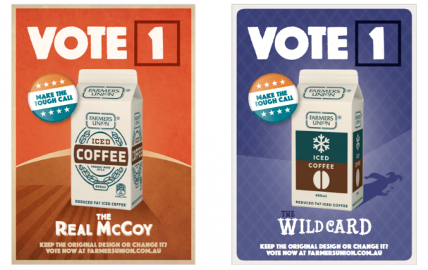 Farmers Union Iced Coffee declares new packaging election