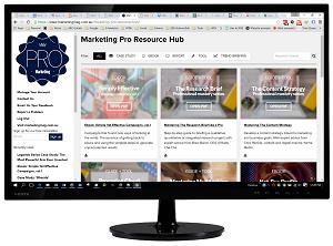 Marketing Pro resource hub