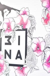 3ina brand logo flowers