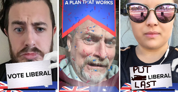 Liberal Party makes world history with first sponsored Snapchat lens in political advertising