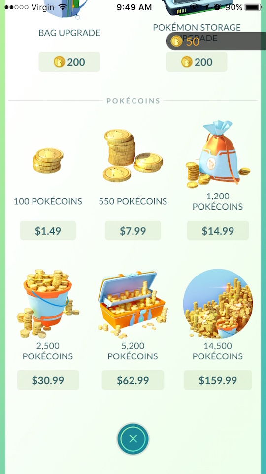 pokemon go store