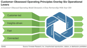 customer obsessed operating principles overlay six operational levers