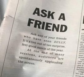 Ask a friend: what's up with this press ad?