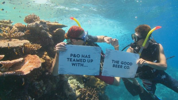 P&O Cruises welcomes aboard Great Barrier Beer for reef conservation