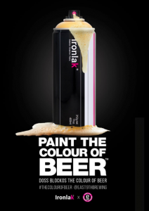 paint the colour of beer