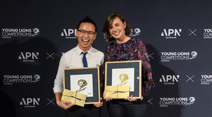 CommBank's Nathan Kwok and Jill Harmon win marketing category at Australian Young Lions Competition